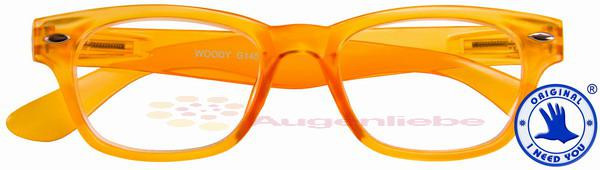 Woody limited Retro-Kunststoffbrille orange
