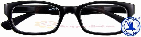 Master Retro-Kunststoffbrille schwarz