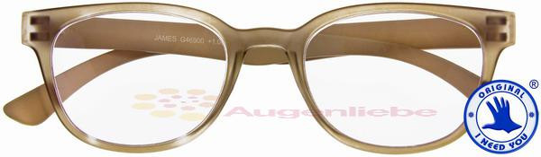 James Retro-Kunststoffbrille braun