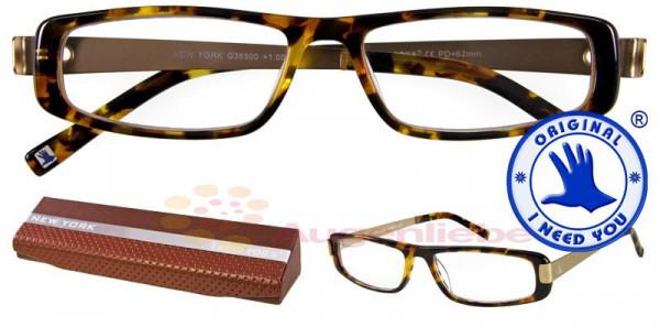 New York Design-Acetatbrille havanna-gold