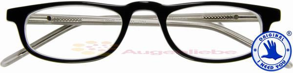 Butler Acetatbrille schwarz-kristall