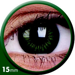 BigEyes Party Green (3-Monatslinse) 15mm (1x2)