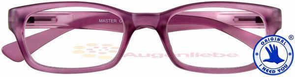 Master Retro-Kunststoffbrille aubergine